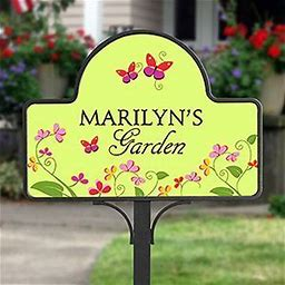 Personalized Garden Yard Stake Magnet - Floral Welcome