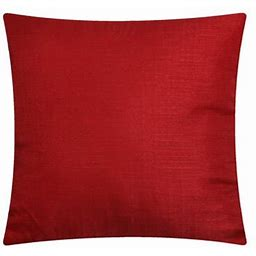 Mainstays Solid Decorative Throw Pillow, 16 Inch X 16 Inch, Red Size: 16 Inch X 16 Inch