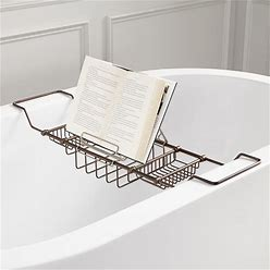 Nottingham Brass Tub Caddy With Reading Rack - Oil Rubbed Bronze | Signature Hardware