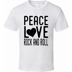 Peace Love Rock And Roll T Shirt