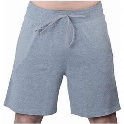 Maks Men's Drawstring Cotton Lycra Sports Yoga Bermuda Shorts Pants, Size: Large, Gray