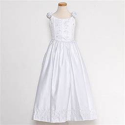 The Rain Kids Rain Kids White Bridal Satin Adjustable Corset Dress Little Girl 2t-20, Girl's, Size: 3 Years