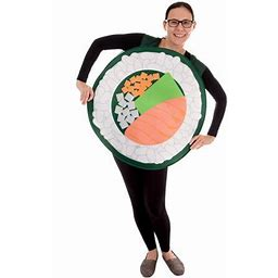 Salmon Sushi Roll Halloween Costume Funny Unisex Food Costume, Men & Women, Adult Unisex, Size: One Size, White