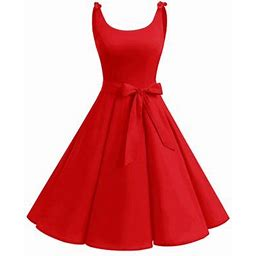 Market In The Box Christmas Party Dress 1950S Vintage Cocktail Dress, Women's, Size: XS, Red