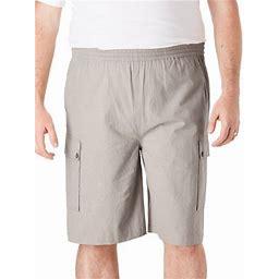 Ks Island By Kingsize Men's Big & Tall Full Elastic Waist Gauze Cargo Shorts, Size: Big - 2XL, Gray
