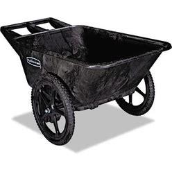 Rubbermaid Commercial Big Wheel Agriculture Cart, 300-Lb Capacity, 32.75W X 58D X 28.25H, Black - RCP5642BLA