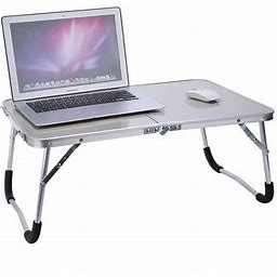 Walfront Laptop Desk, PC Desk Stand,Portable Ourdoor Picnic Camping Folding Table Laptop Desk Stand PC Notebook Bed Tray (white), Size: 62