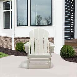 Patio Classic Plastic/Resin Folding Adirondack Chair - Brown