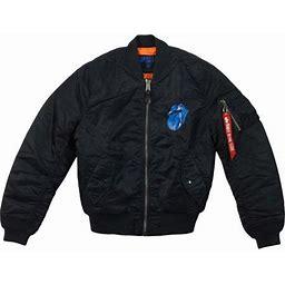 Rolling Stones Men's Lonesome Bomber Jacket Jacket Black, Size: Small
