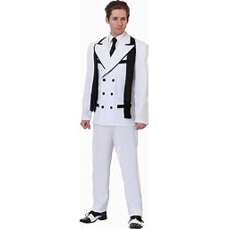 Greedy Gangster Costume For Men | Adult | Mens | Black/White | M | FUN Costumes