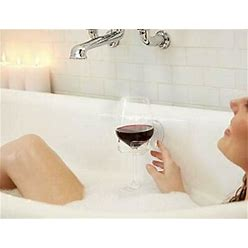 Bath & Shower Portable Cupholder Caddy For Beer & Wine Suction Cup