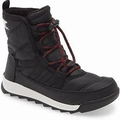 Kid's Sorel Whitney(TM) Ii Short Waterproof Insulated Boot, Size 4 M - Black