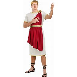 Roman Senator Costume For Men | Adult | Mens | Red/Brown | XL | FUN Costumes