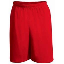 C2 Sport Men's Mock Mesh 6 Inch Short, Adult Unisex, Size: Large, Red