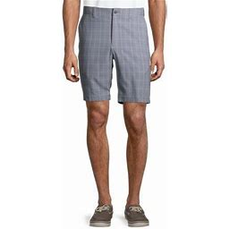 Ben Hogan Men's And Big Men's Flat Front Plaid Short