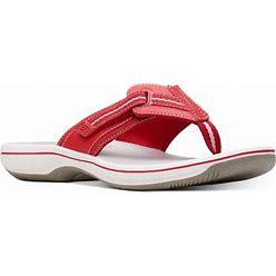 Clarks Women's Cloudsteppers Brinkley Jazz Sandals - Red