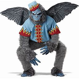 Adult Scary Winged Monkey Costume | Movie Character Costumes | Adult | Mens | Gray/Blue | XL | California Costume Collection