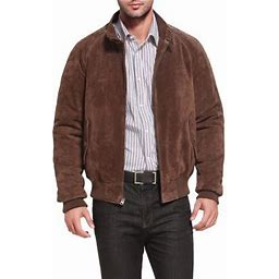 Landing Leathers Men's Wwii Suede Leather Bomber Jacket (Regular & Tall Sizes), Size: LT, Brown