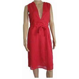 Antik Batik Womens 'Mala' V-Neck Mini Dress, Fushia, Size L, Women's, Size: Large, Red