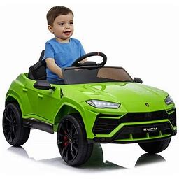 Battery Powered Ride On Toys, 12V Lamborghini Urus Ride On Car With Remote Control, Power 4 Wheels Electric Vehicle For Girls Boys, 3 Speeds Ride On