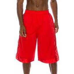 Pro 5 Super Heavy Weight Basket Ball Mesh Shorts,Red,7XL, Men's