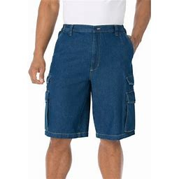 Kingsize Men's Big & Tall 12 Inch Cargo Shorts, Size: Tall - 44, Gray