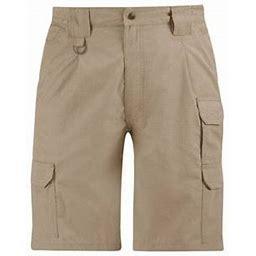 Propper Mens Shrink/Wrinkle Resistant Ripstop Polyester/Cotton Tactical Shorts, Men's, Size: 28, Beige