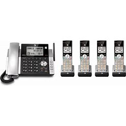 AT&T CL84215 Plus CL80115 DECT 6.0 4 Handset Corded-Cordless Phone System
