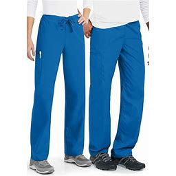 Cherokee Workwear Unisex Drawstring Cargo Easy Care Scrub Pants - Royal - Cargo Pockets,Drawstring Waist Scrub Pants - Cherokee Workwear Collection