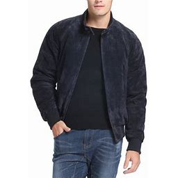 Landing Leathers Men's Wwii Suede Leather Bomber Jacket (Regular & Tall Sizes), Size: LT, Blue