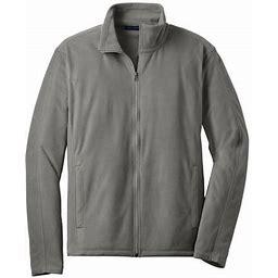 Port Authority Men's Lightweight Microfleece Jacket, Size: Small, Gray