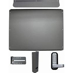 Lockeyusa Standard Panic Shield Kit Security - No Bar - Silver