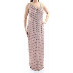 Adrianna Papell $329 Womens New 1289 Pink Beaded Sheath Dress 12 B+B, Women's
