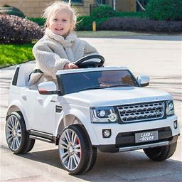 Segmart Kids Electric Battery-Powered Ride On Truck Car RC Toy, Licensed Land Rover Kids Ride On Car For Child 1-4, Remote Control Ride On Toys For