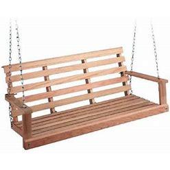 Beecham Swing Co. Oak Flatbottom Porch Swing - 5 Ft