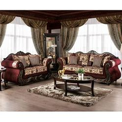Furniture Of America Estra Traditional Red 2-Piece Living Room Set