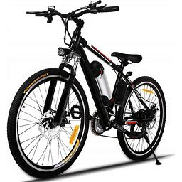 Hicient Electric Bike Electric Bicycle For Adult 26'' Electric Mountain Bike 250W Ebike 21 Speed Gear With Removable Lithium Battery And Battery