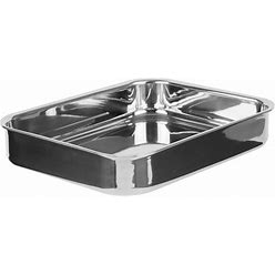"""Vollrath 49434 Miramar Display 2.8 Qt. Tri-Ply Stainless Steel Roasting Pan - 11 5/8"""" X 9 5/16"""" X 2"""""""