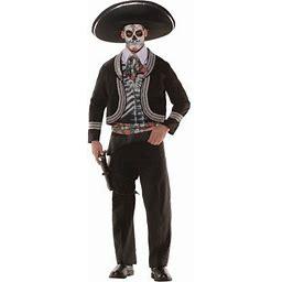 Day Of The Dead Men's Adult Halloween Costume, Black