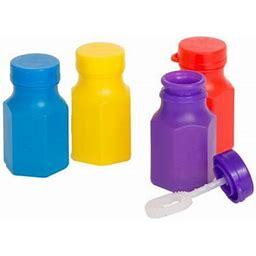 Assorted 24 Pack Bubble Party Favors, Plastic, 0.6oz, Multicolor