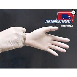 Powder-Free Vinyl Disposable Gloves, Size: Large