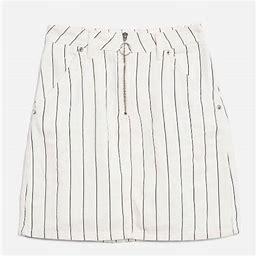 Topshop Skirts   Topshop Moto Pin Stripe Tall Skirt   Color: Black/White   Size: 8