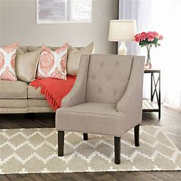 Copper Grove Gwillim Tufted Swoop Arm Accent Chair