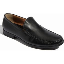 Men's Johnston & Murphy 'Creswell' Venetian Slip-On, Size 10.5 W - Black