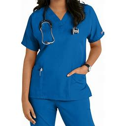 Cherokee Workwear V-Neck Easy Care Scrub Top - Royal - V-Neck Scrub Tops - Cherokee Workwear Collection Scrub Tops From Scrubs And Beyond