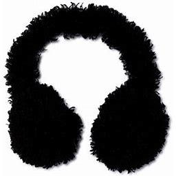 Time And Tru Women's Faux Fur Earmuffs, Size: One Size, Black