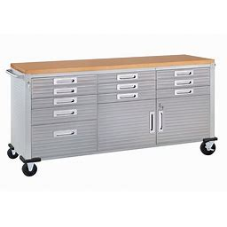 Seville Classics Ultrahd Rolling Workbench - Granite