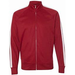 Independent Trading Co. - New Iwpf - Men - Unisex Poly-Tech Full-Zip Track Jacket, Adult Unisex, Size: XL, Red