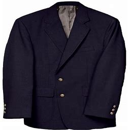 Edwards Men's Classic Two Button Single Breasted Blazer, Style 3500, Size: 36 Small, Blue