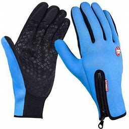 2020 New Winter Gloves Men Women Touchscreen Running Gloves Cold Weather Warm Gloves Driving Cycling Texting Workout Training, Blue L, Women's, Size: